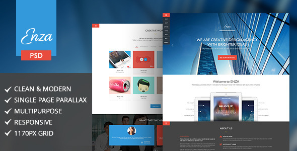 ThemeForest Enza Multi-Purpose Parallax Landing Page 6651006