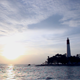 Lighthouse On The Shoreline At The Sunset - VideoHive Item for Sale