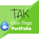 TAK - Responsive Onepage Portfolio Drupal - ThemeForest Item for Sale