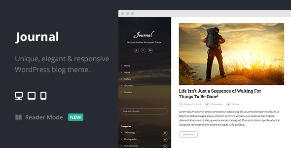 ThemeForest Journal Elegant Responsive WordPress Blog Theme 6629402