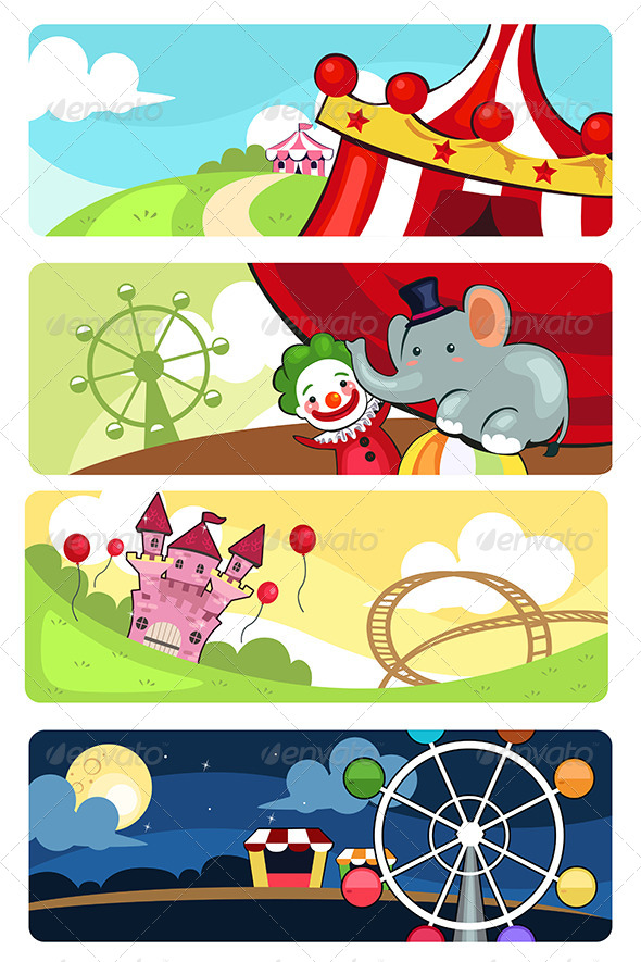 GraphicRiver Amusement Park Banners 6656844