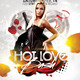 Hot Love Bash Flyer Template - GraphicRiver Item for Sale