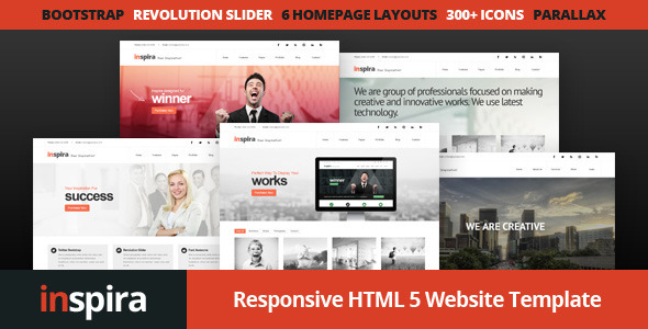 Inspira - Responsive HTML 5 Website Template - Business Corporate