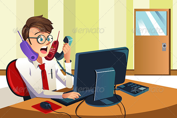 GraphicRiver Busy Businessman on the Phone 6657513