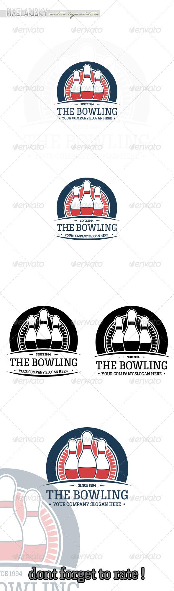 GraphicRiver Bowling Sport Logo 6657873