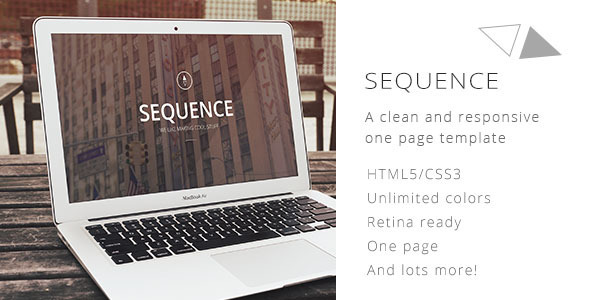 ThemeForest Sequence A one page retina & responsive template 6616569
