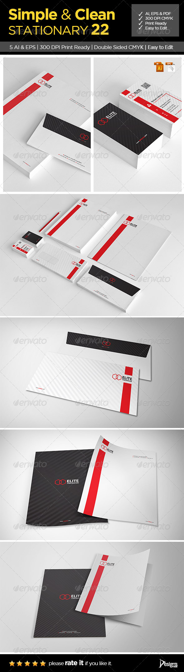 GraphicRiver Simple and Clean Stationary 22 6658449