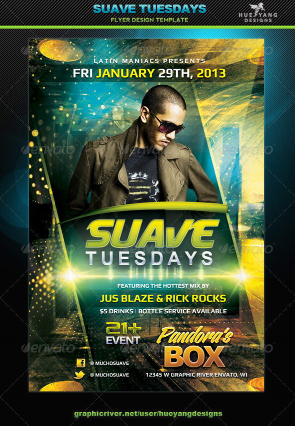GraphicRiver Suave Tuesdays Flyer 6658523