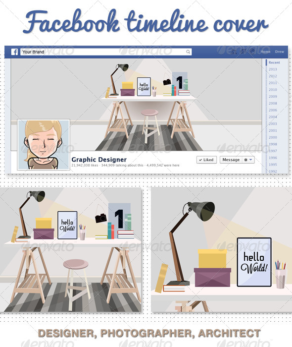 GraphicRiver Photographer Desinger Facebook Timeline Cover 6658826
