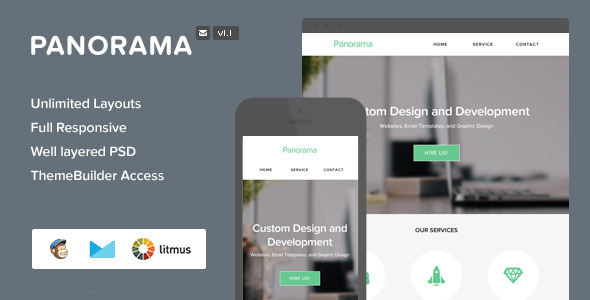 ThemeForest Panorama Responsive Email With Themebuilder 6655611