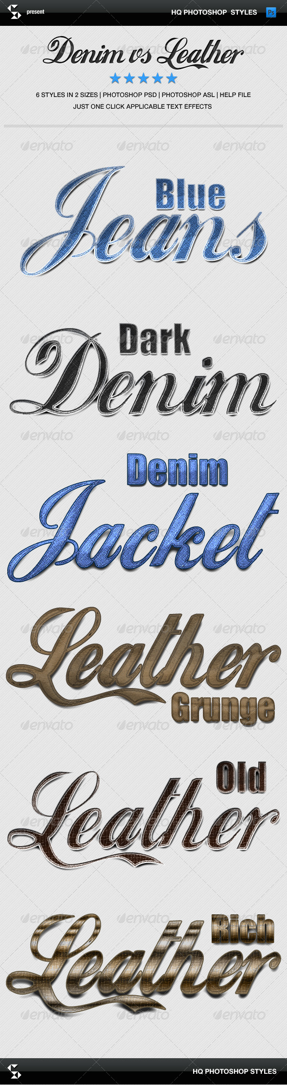 GraphicRiver Denim and Leather Styles Jeans and Leather 6659009