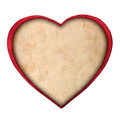 red paper heart isolated on white background - PhotoDune Item for Sale