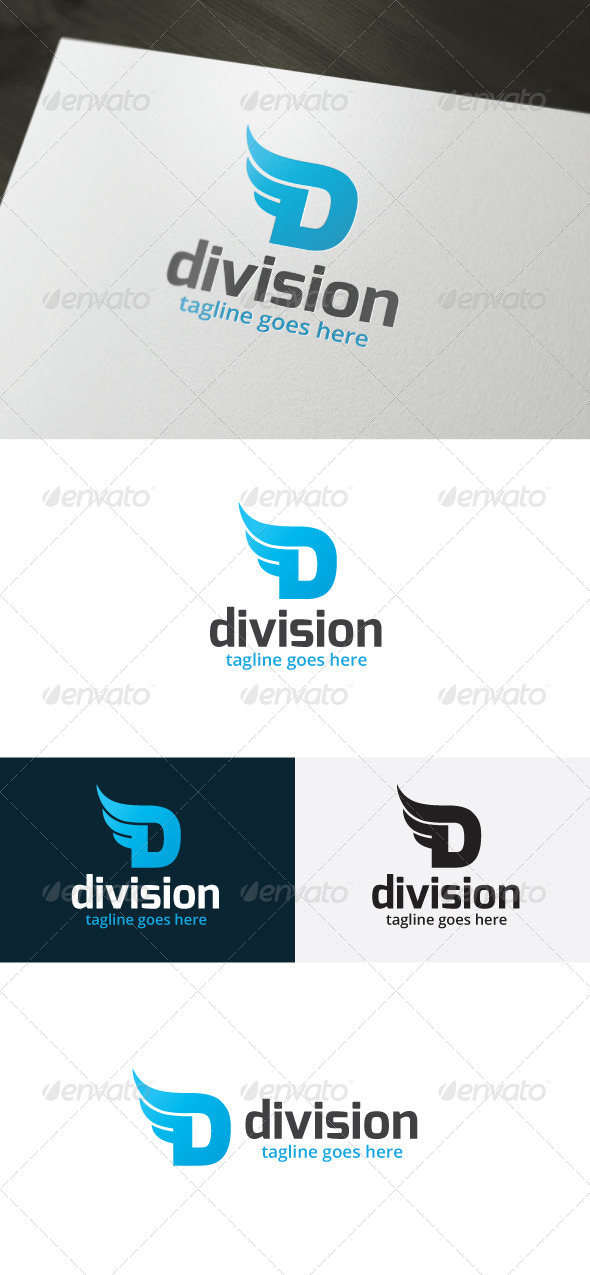GraphicRiver Division Logo Letter D 6655091