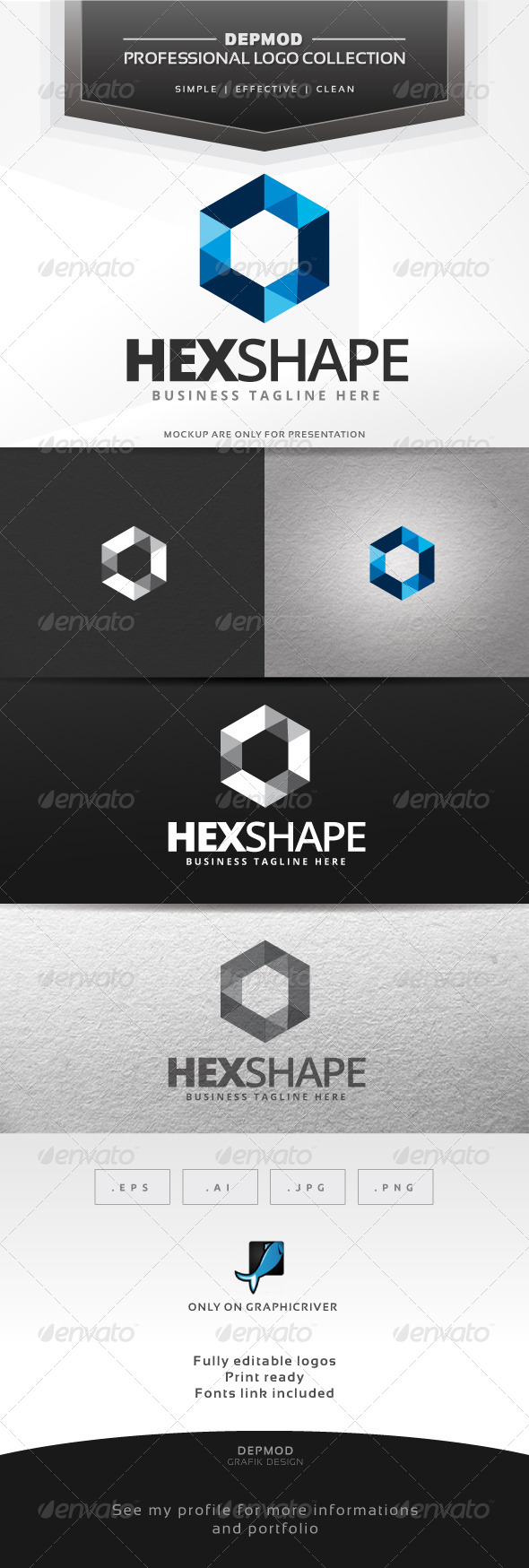 GraphicRiver Hex Shape Logo 6660053