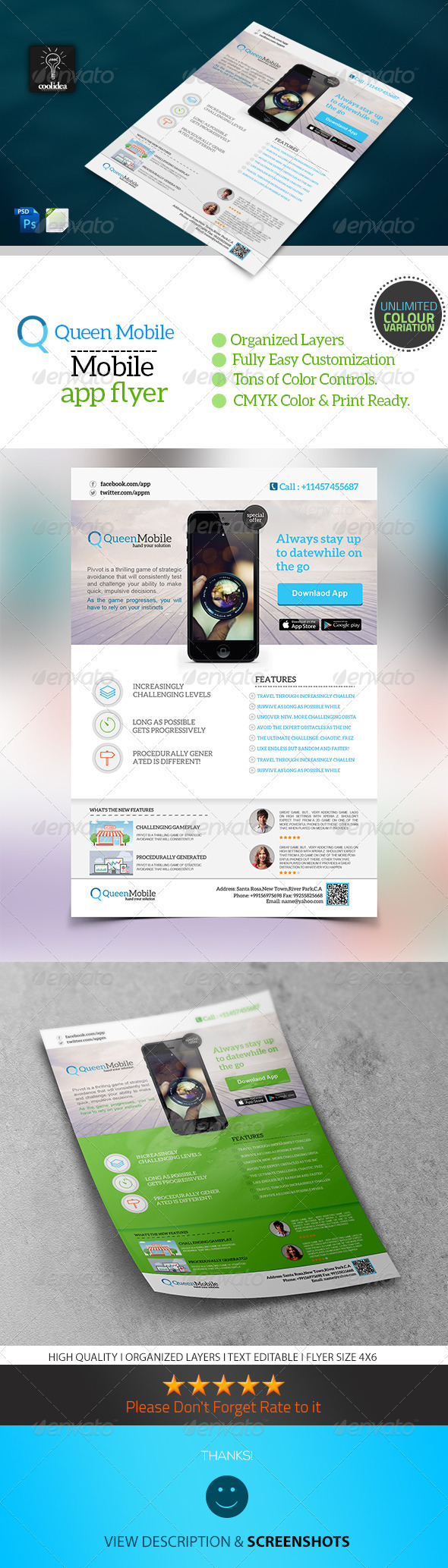 GraphicRiver Mobile App Flyer 6634988