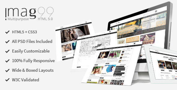 iMag99 - Magazine and Multi-purpose Theme - Entertainment Site Templates