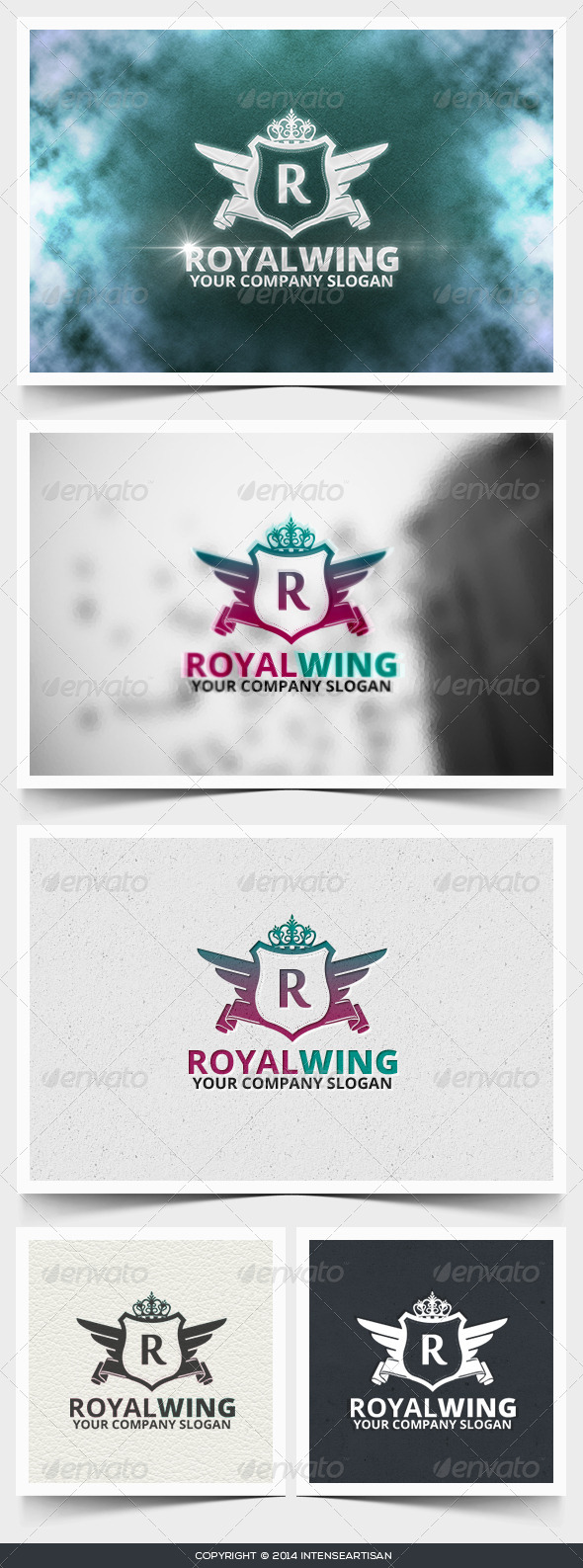 Royal Wing Logo Template - Crests Logo Templates