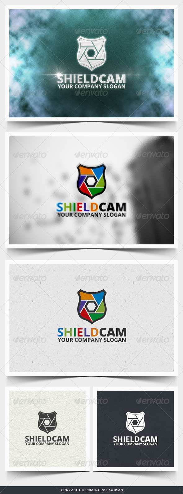 Shield Cam Logo Template - Objects Logo Templates