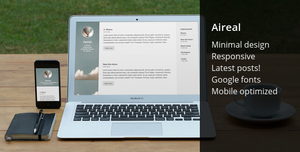 ThemeForest Aireal responsive blogging theme 6662220