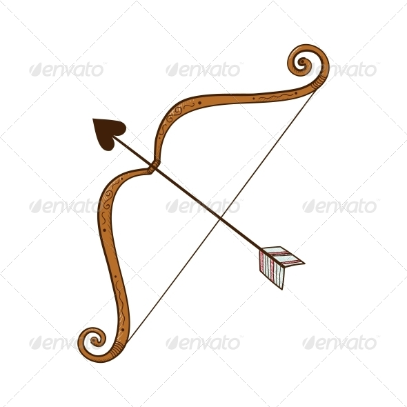 GraphicRiver Bow and Heart shaped Arrow 6662641