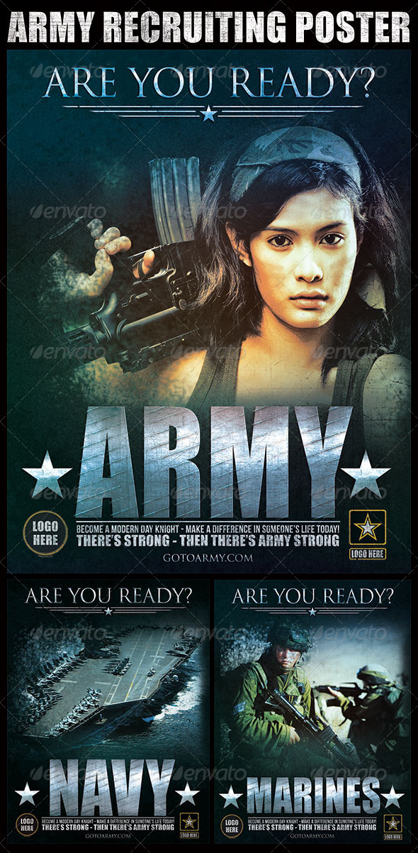 GraphicRiver Army Recruiting Poster 6662680