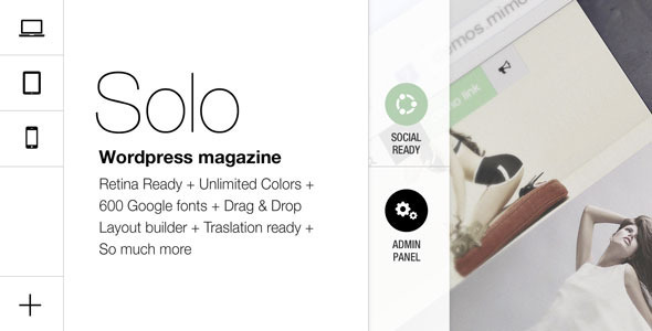Solo, Grid Responsive Multipurpose Magazine - News / Editorial Blog / Magazine