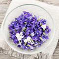 Edible violets in bowl - PhotoDune Item for Sale