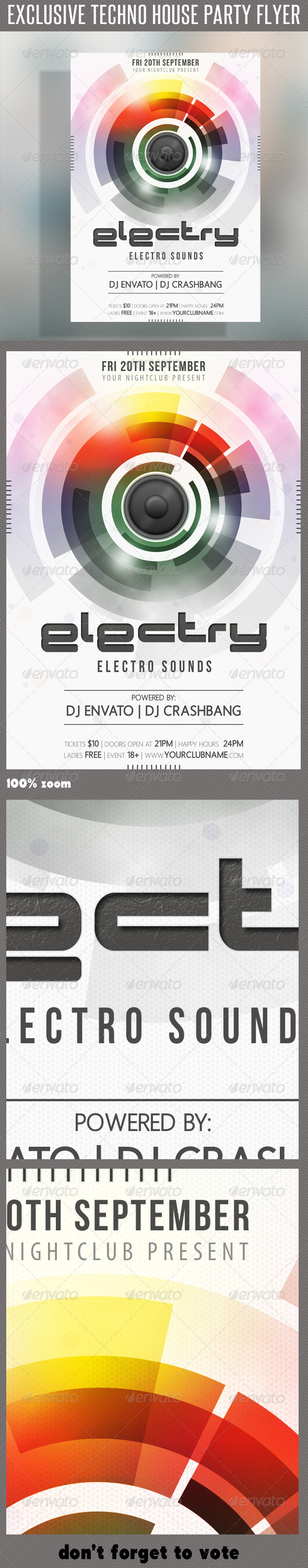 GraphicRiver Techno House Flyer 03 6663270