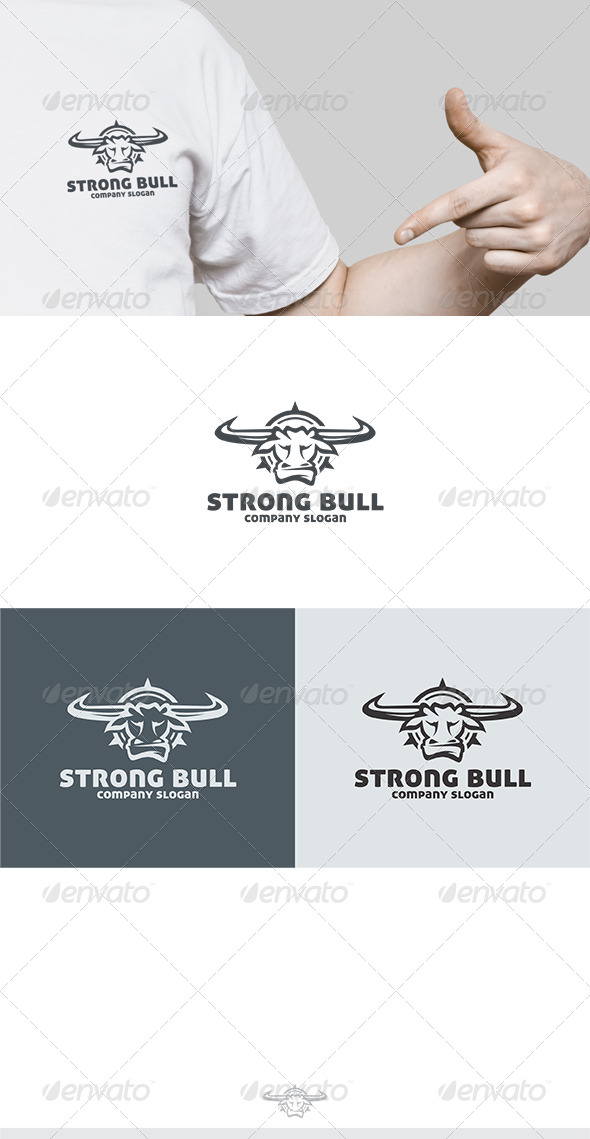 GraphicRiver Strong Bull Logo 6663275