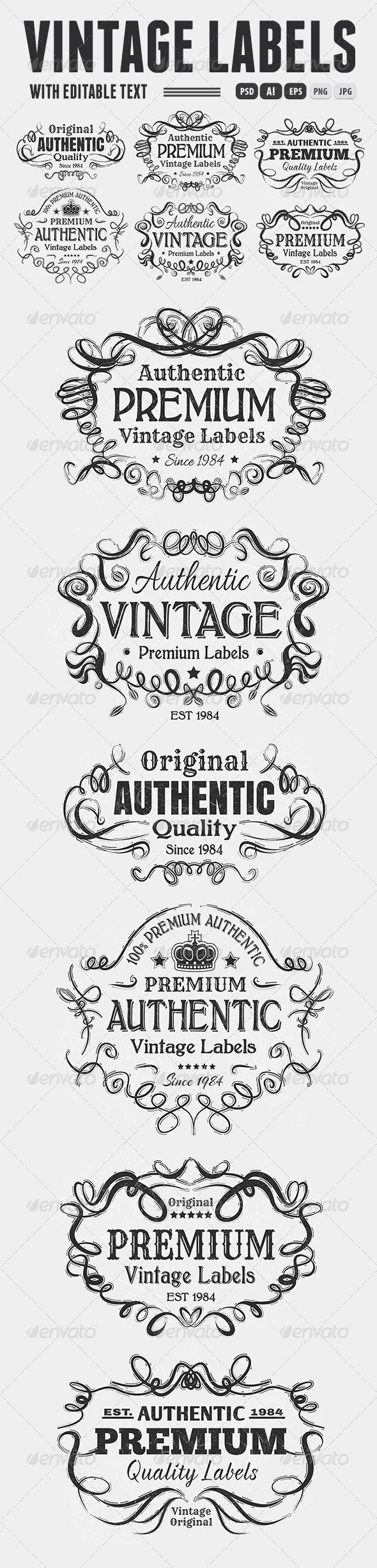 GraphicRiver Vintage Labels 6663492