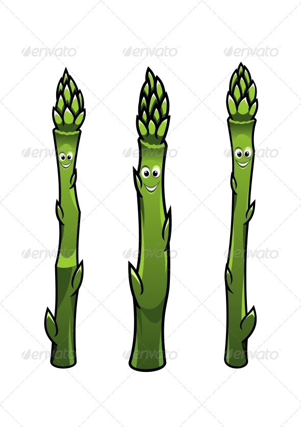 GraphicRiver Smiling Asparagus Spears 6663618