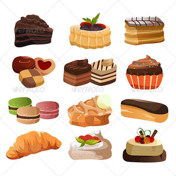 GraphicRiver Pastry Icons 6665089