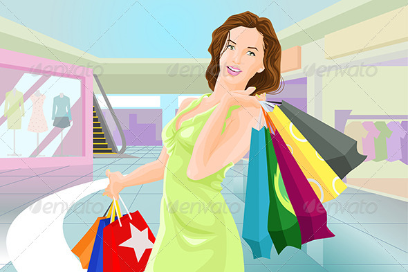 GraphicRiver Woman Shopping 6665249