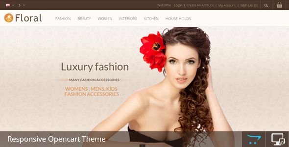 ThemeForest Floral Opencart Responsive Template 6599779