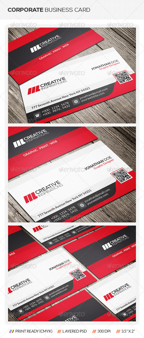 GraphicRiver Modern Corporate Business Card 6666219
