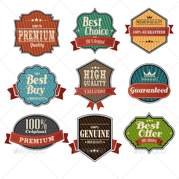 GraphicRiver Vintage Label Sets 6666389