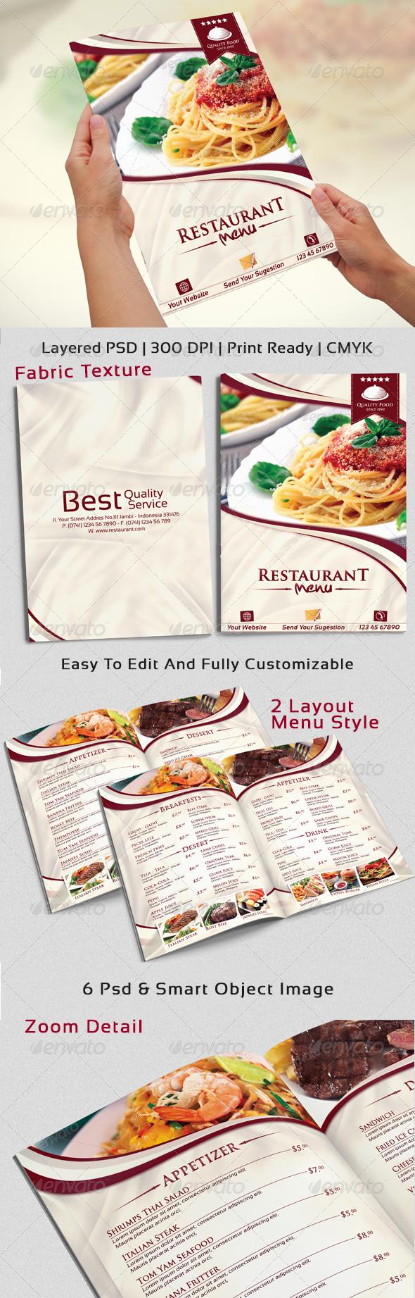 GraphicRiver Modern & Elegant Restaurant Menu Templates 6666594