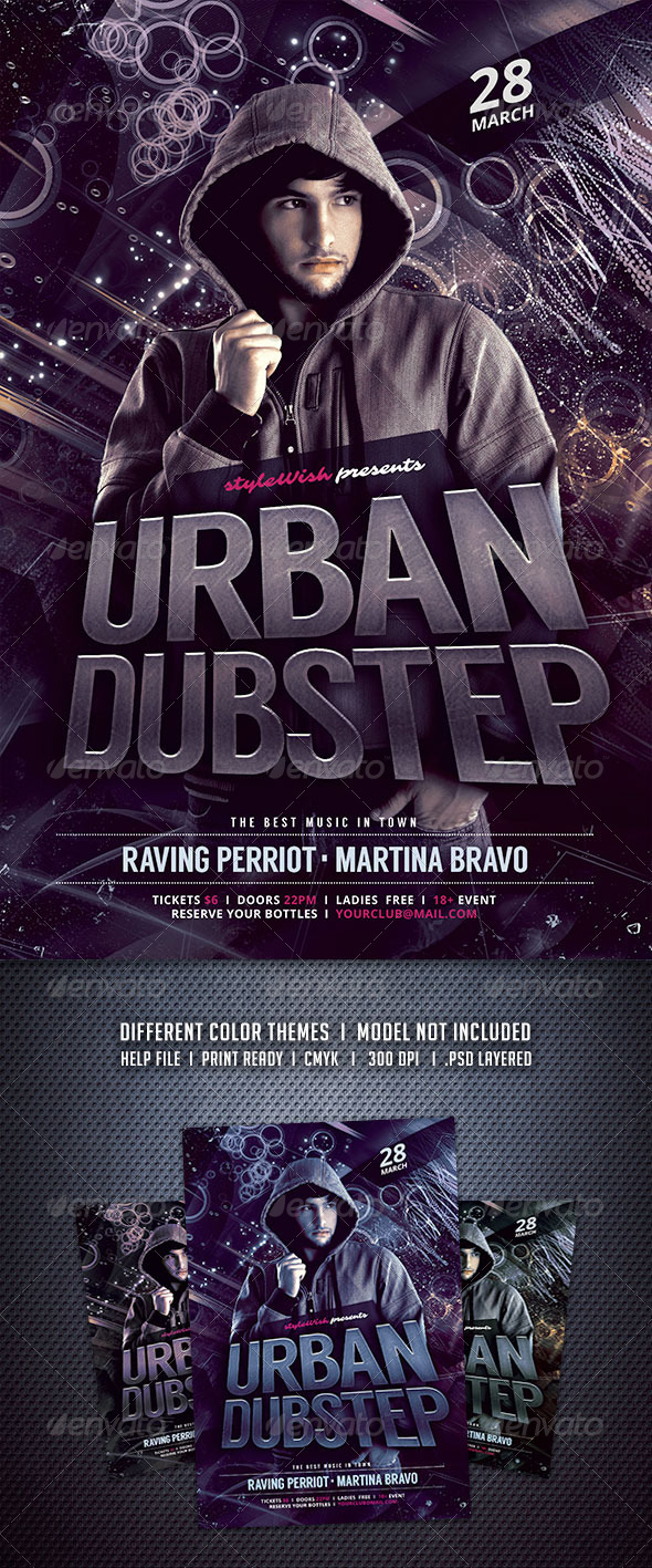 GraphicRiver Urban Dubstep Flyer 6632943