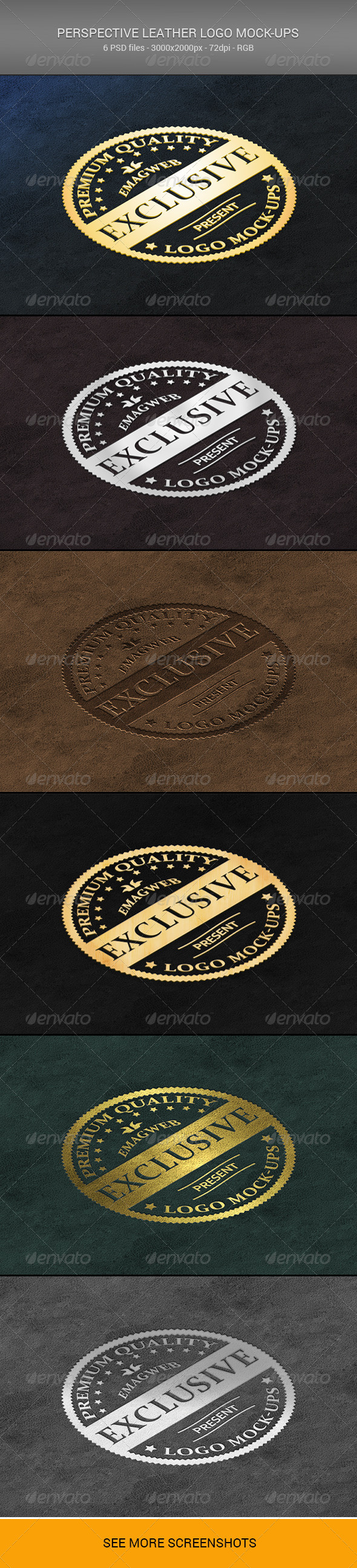 GraphicRiver Perspective Leather Logo Mock-ups 6667112