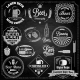 Beer Set Elements Chalkboard - GraphicRiver Item for Sale