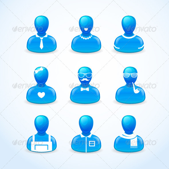 GraphicRiver Set of Humans Icons 5842736