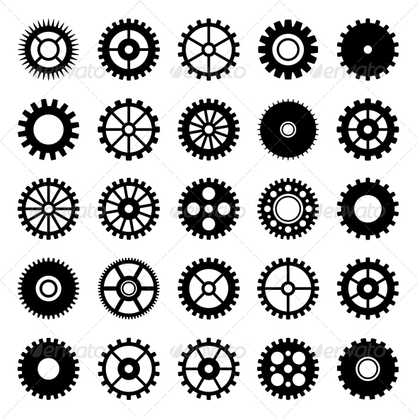 GraphicRiver Gear Wheel Icons Set 1 6667347