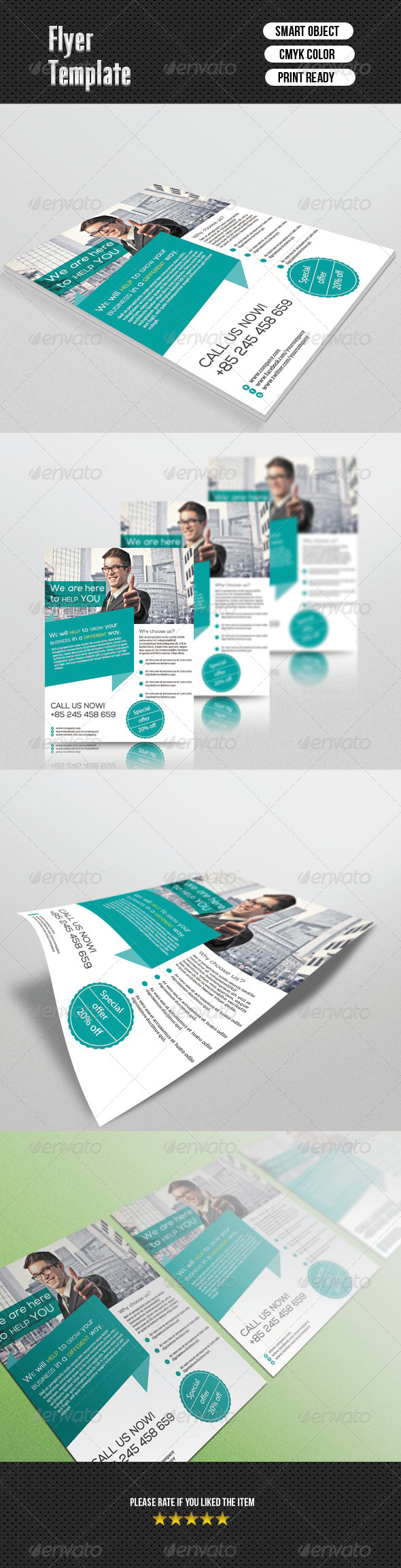GraphicRiver Corporate Flyer Template 6668188