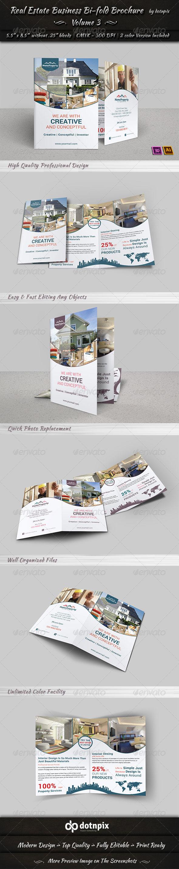 GraphicRiver Real Estate Business Bi-Fold Brochure Volume 3 6668291