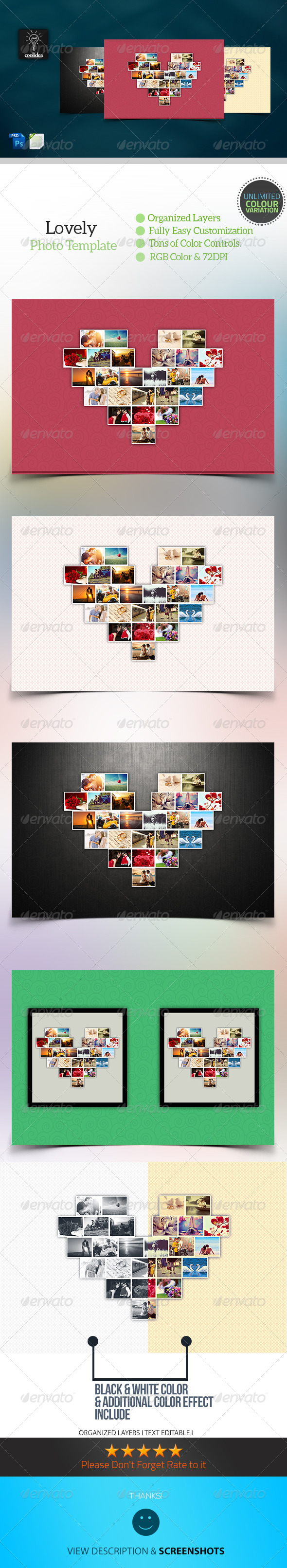 GraphicRiver Lovely Heart Photo Template 6668538