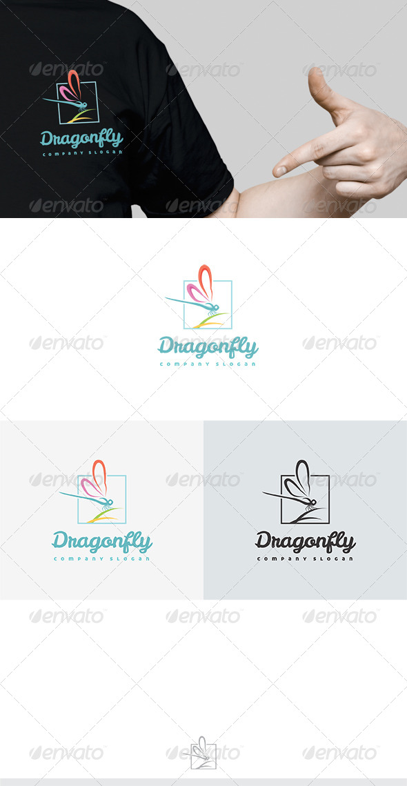 Dragonfly Logo - Nature Logo Templates