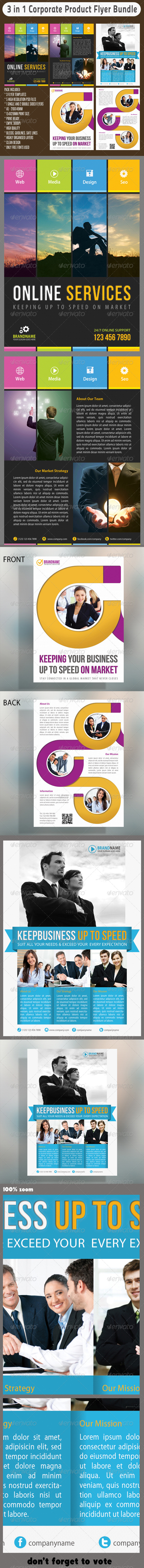 GraphicRiver 3 in 1 Corporate Flyers Bundle 04 6669324