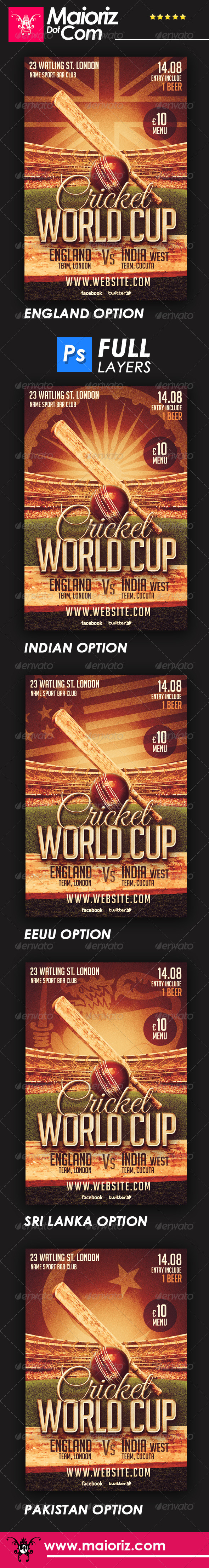 GraphicRiver Cricket Cup Flyer 6669397