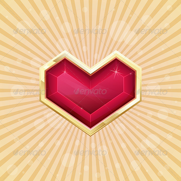 GraphicRiver Golden Heart 6669680