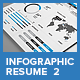 Clean Infographic Resume Vol 2  & Cover Letter - GraphicRiver Item for Sale